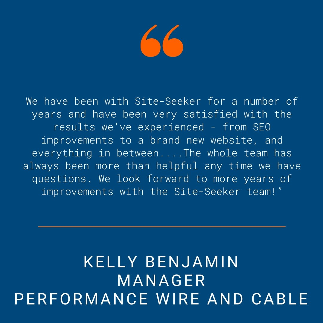 Performance Wire and Cable - Testimonial Quote for SSI Website