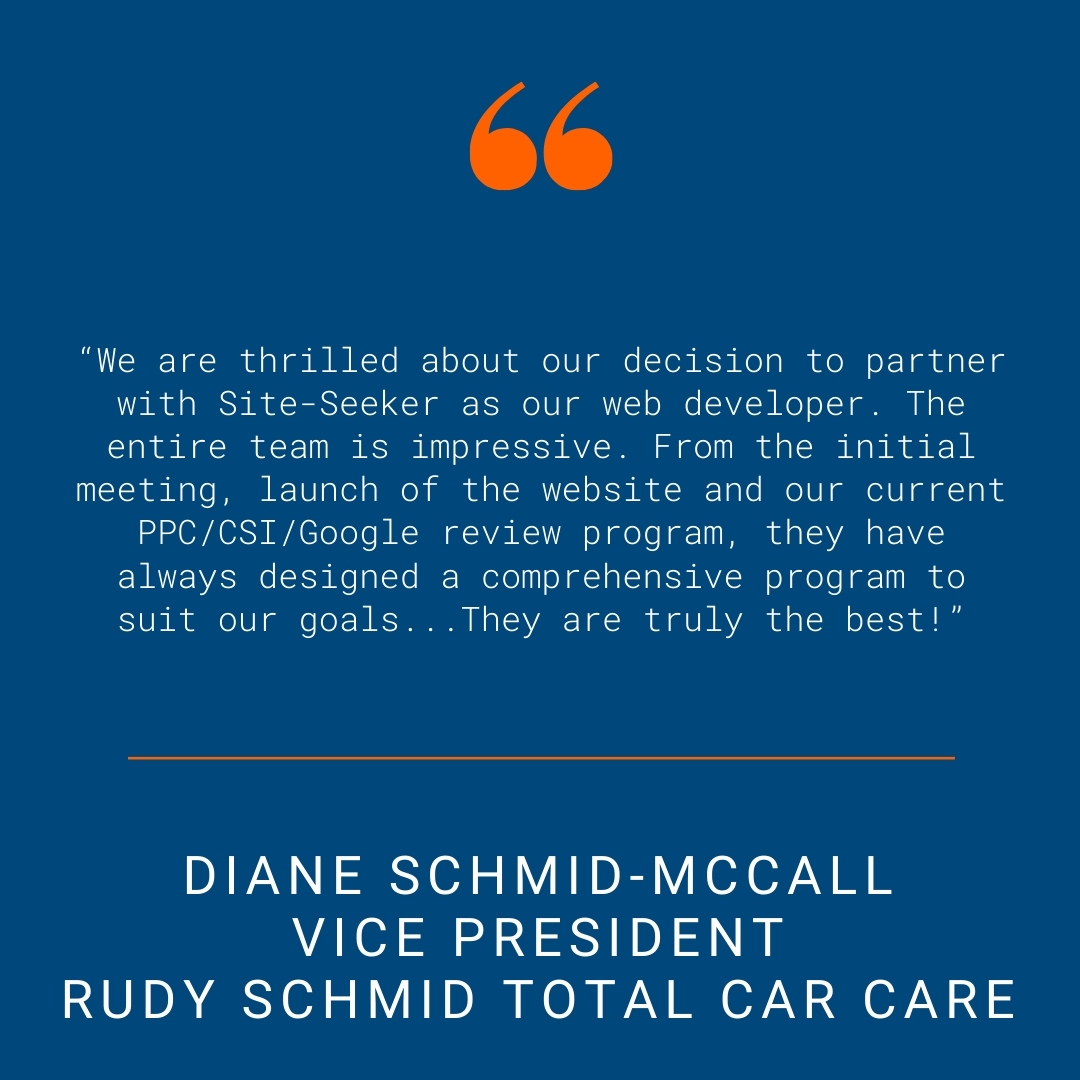 Rudy Schmid - Testimonial Quote for SSI Website