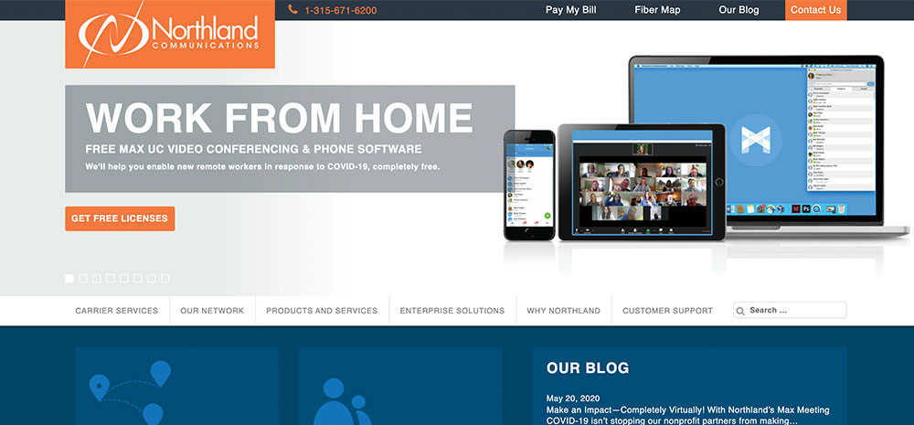 Northland-Homepage-Screenshot