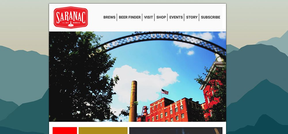 Saranac-Homepage-Screenshot