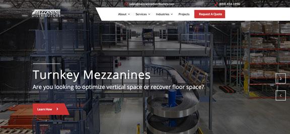 Mezzanine-Distributors-Homepage